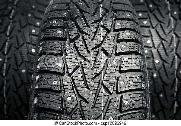 pneus, protecteur, pointes, hiver, neige - csp12026946