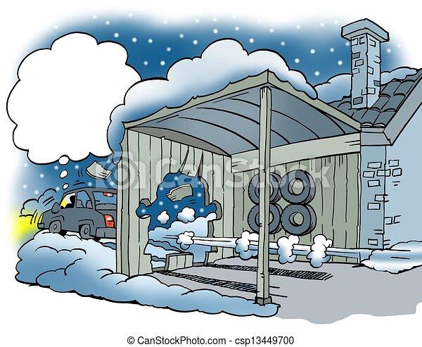 pneus voiture glissant hiver illustration de stock. Black Bedroom Furniture Sets. Home Design Ideas