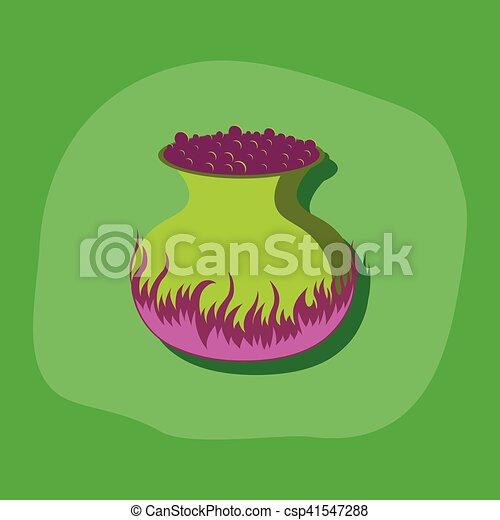 poção, adesivo, cauldron, papel, fundo, elegante - csp41547288