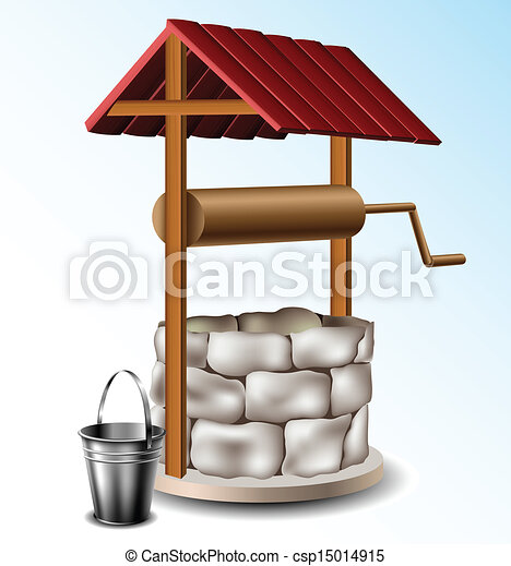poço, balde, metal - csp15014915