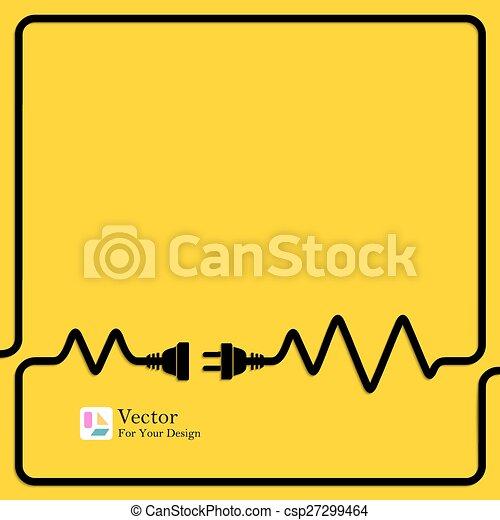 połączenie, pojęcie, electricity., odłączenie - csp27299464