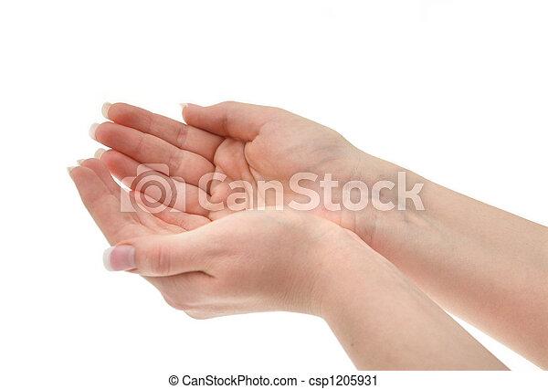 połączony, samicze ręki - csp1205931