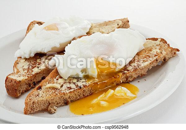 Poached eggs - csp9562948