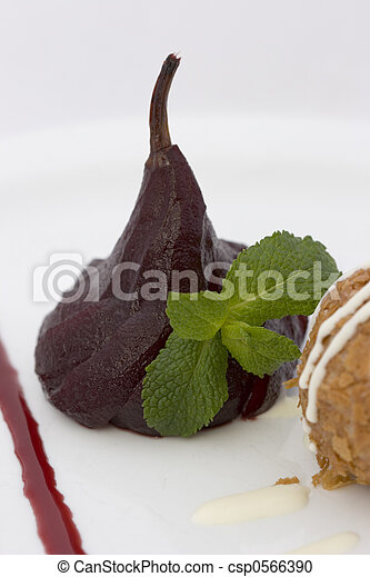 Poached Pear - csp0566390