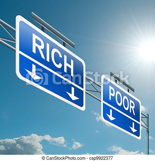 pobre, concept., ou, ricos - csp9922377