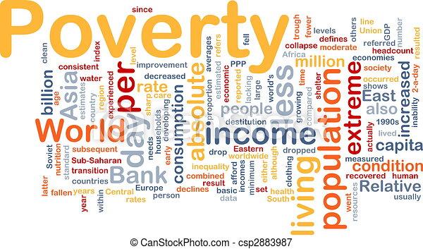 Nube de la Pobreza - csp2883987