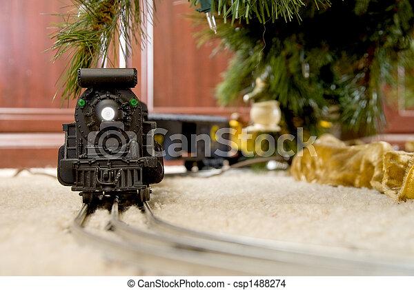 pociąg, boże narodzenie - csp1488274