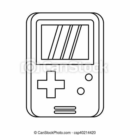 Pocket Game Icon Outline Style Pocket Game Icon In Outline Style - Game outline