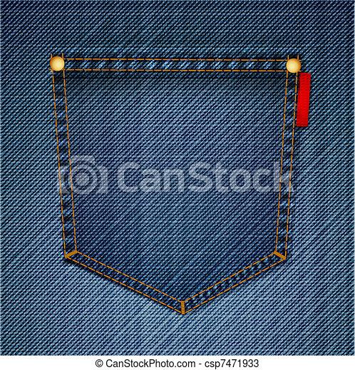 pocket of blue jeans vector macro vector of blue jeans pocket on back