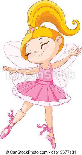 Pequeña bailarina de hadas - csp13677131