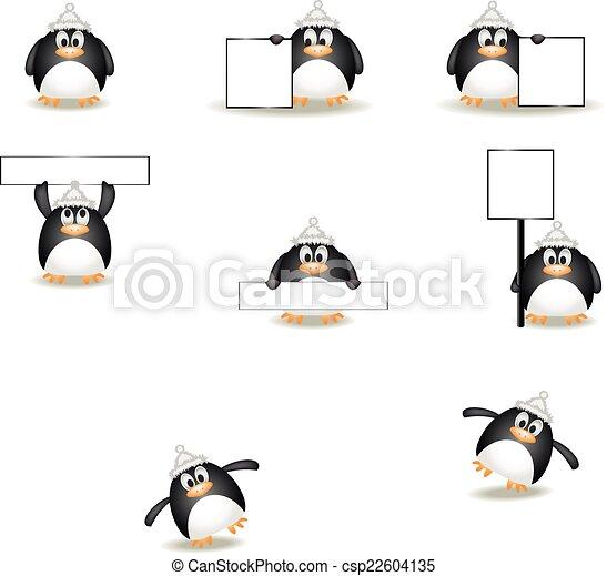 La ilustración de un pequeño pingüino - csp22604135