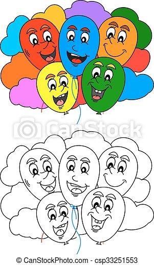 Poco, libro colorear, niños. Poco, colorido, nubes, colorido ...