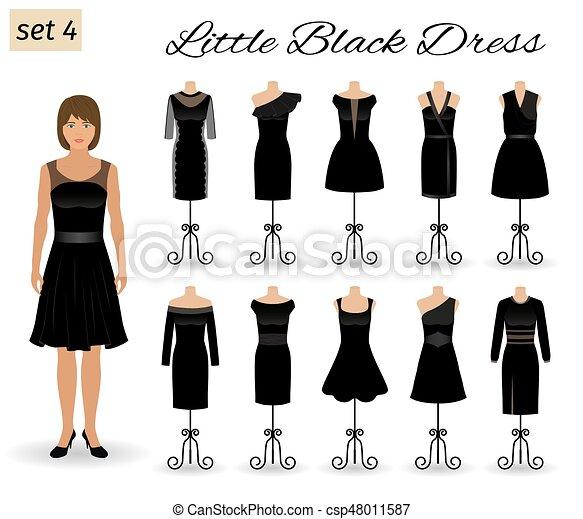 Una Mujer Elegante Con Un Vestido Negro Vestidos De Noche