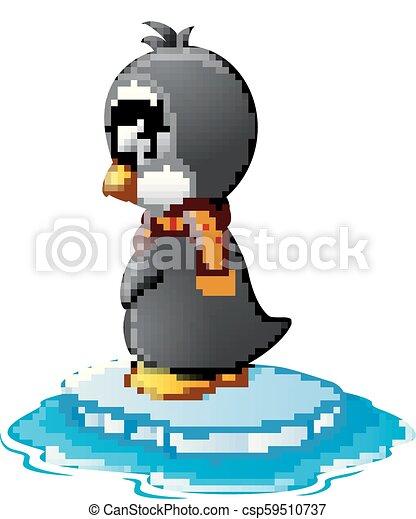 Pingüino en hielo - csp59510737