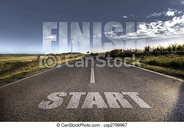 początek, pojęcie, -, finisch - csp2799967