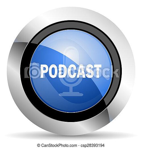 podcast, アイコン - csp28393194
