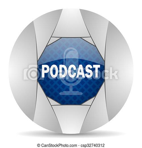 podcast icon - csp32740312