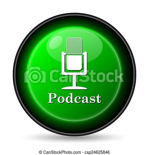 Podcast icon - csp24625846