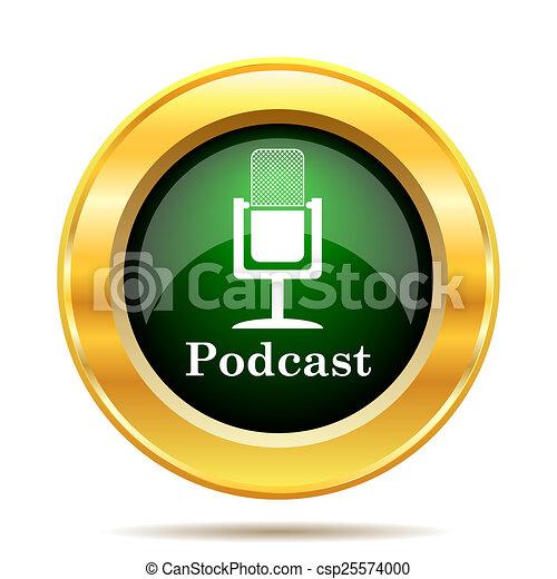 Podcast icon - csp25574000