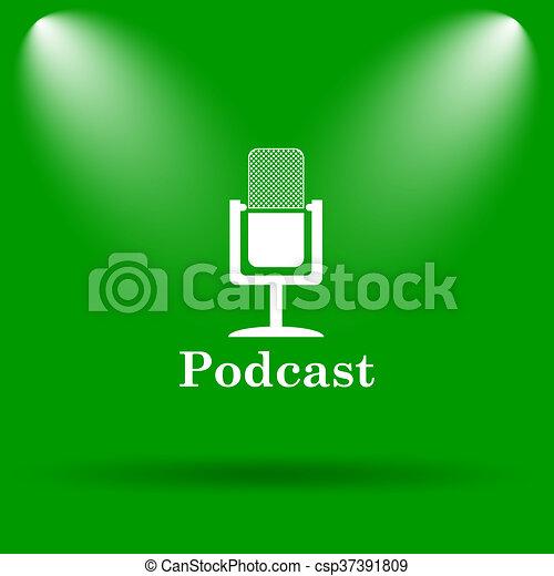 Podcast icon - csp37391809
