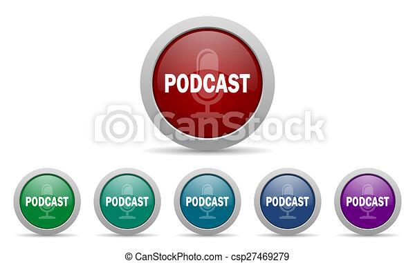 podcast icon - csp27469279