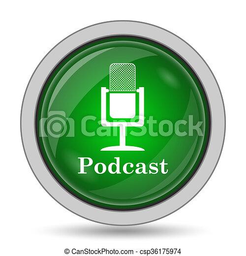 Podcast icon - csp36175974