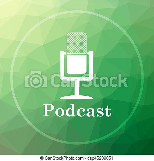 Podcast icon - csp45209051