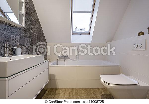 Poddasze łazienka Wanna