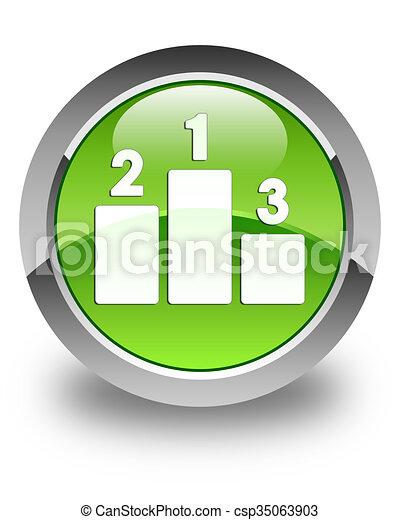 Podium icon glossy green round button - csp35063903