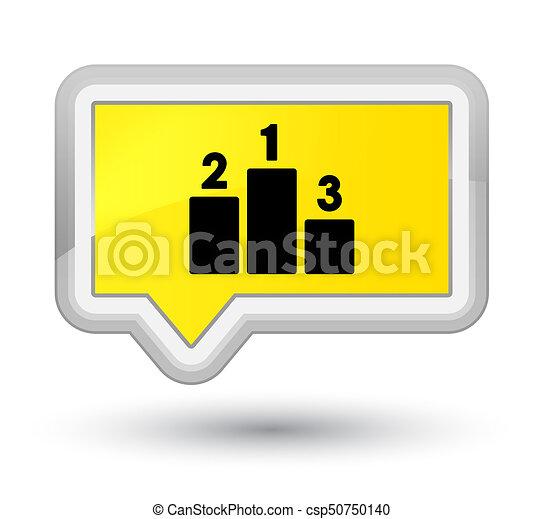 Podium icon prime yellow banner button - csp50750140
