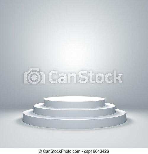 podium, lege - csp16643426