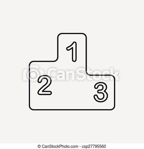 Podium line icon - csp27795560