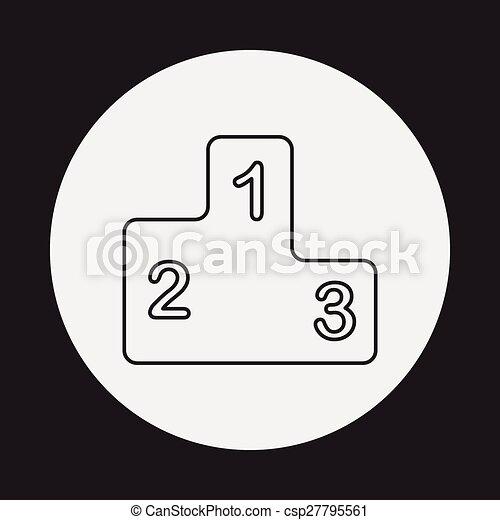 Podium line icon - csp27795561