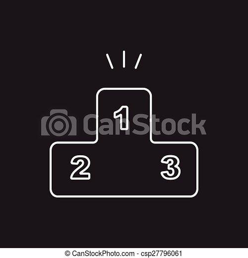 Podium line icon - csp27796061