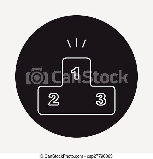 Podium line icon - csp27796063