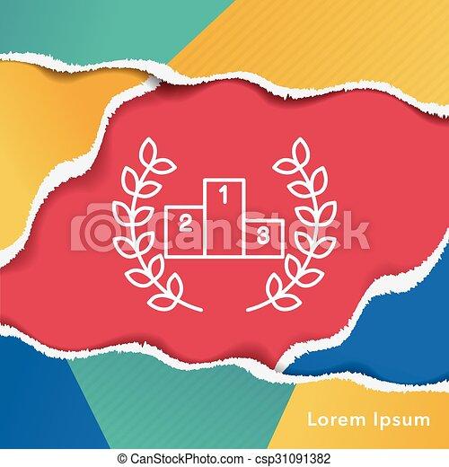 Podium line icon - csp31091382
