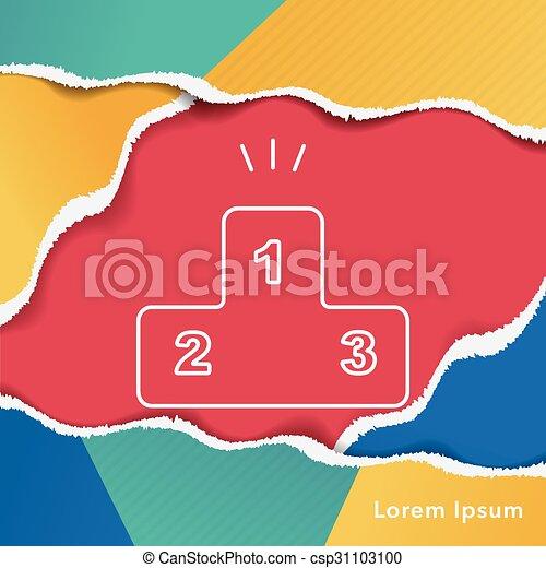 Podium line icon - csp31103100