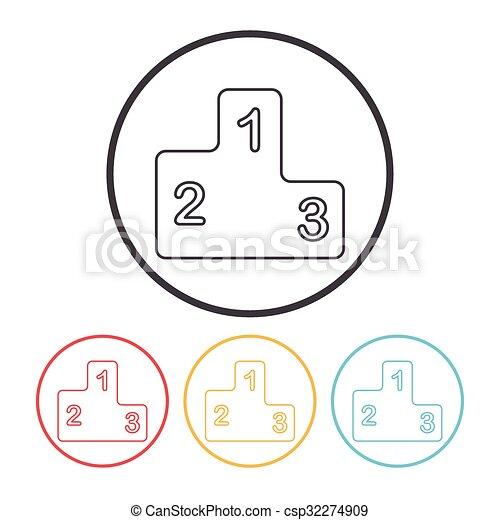 Podium line icon - csp32274909