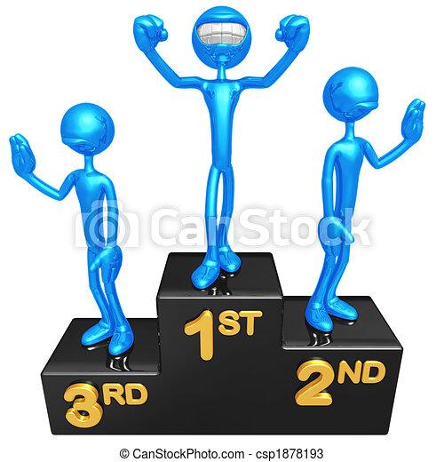 Podium sourire champion concept pr sentation figure 3d - Dessin podium ...
