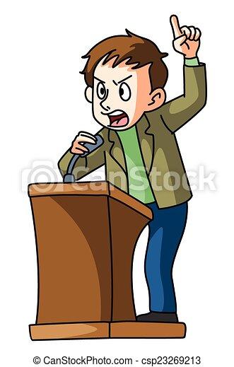 podium speech - csp23269213