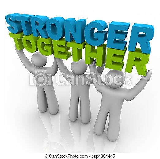 podnoszenie, -, silniejszy, słówko, razem - csp4304445