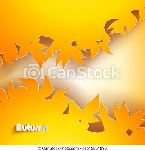 podzim, abstraktní, grafické pozadí - csp15851896