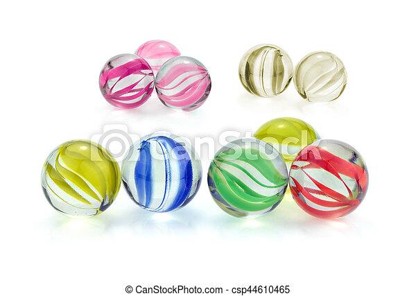 pohár üveggolyó, színes - csp44610465