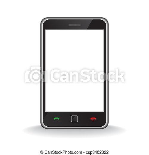 pohyblivý telefonovat, moderní, bystrý - csp3482322