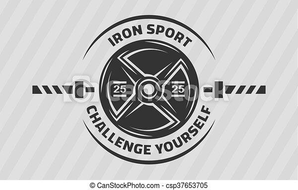 poids, disque, croix, training., barbell. - csp37653705
