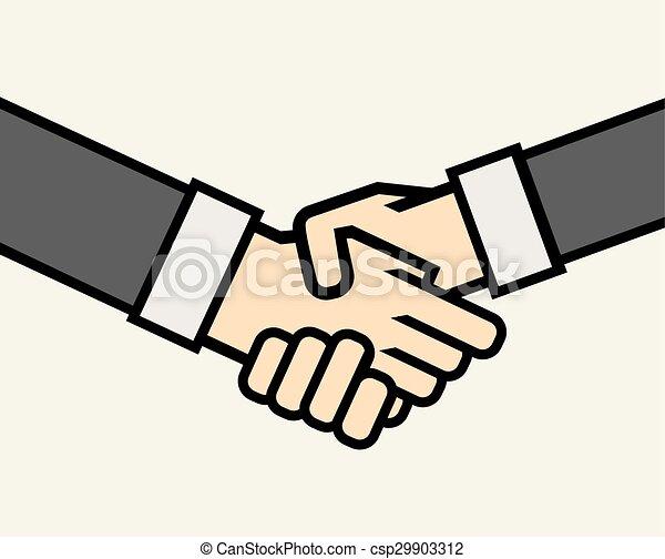 poignée main, business - csp29903312