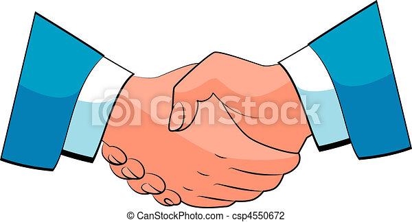 poignée main, business - csp4550672