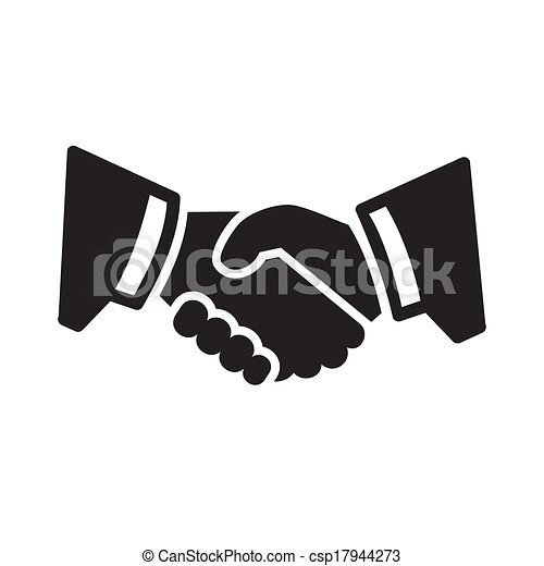 poignée main, icône - csp17944273