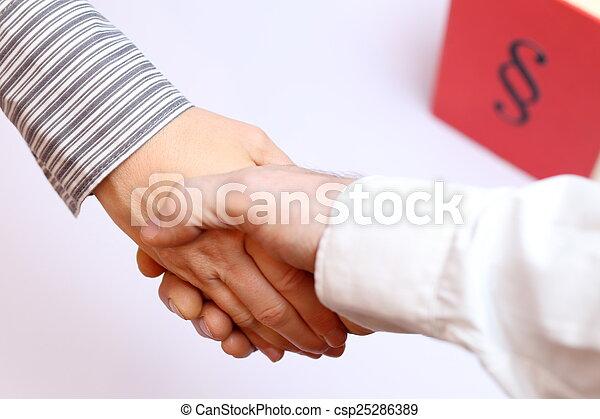 poignée main, symbolique - csp25286389