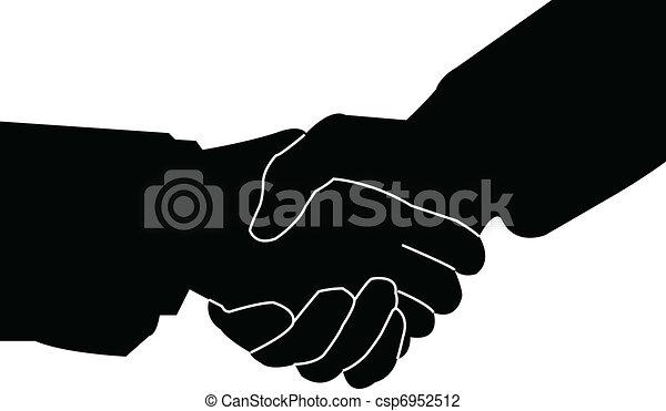 poignée main, vecteur, - - csp6952512